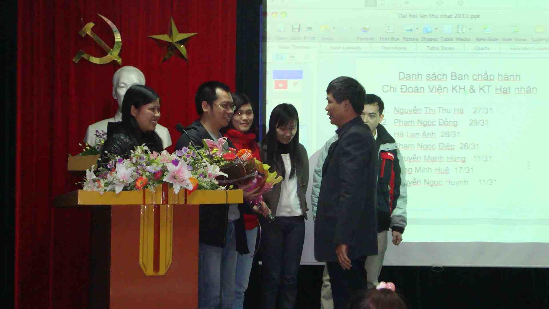 Đại hội Chi đoàn TNCS Hồ Chí Minh Viện KH&KT Hạt nhân lần thứ nhất