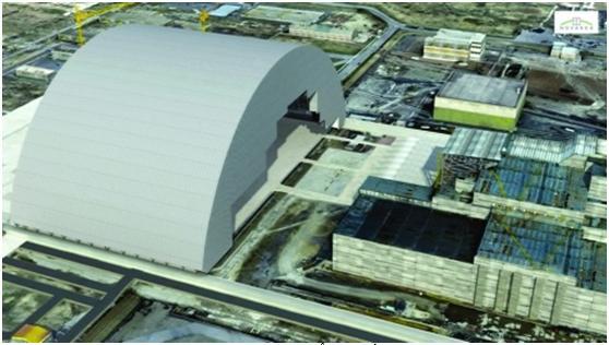 Hoàn thiện nửa thứ 2 của hệ thống che chắn mới ở địa điểm xảy ra tai nạn Chernobyl