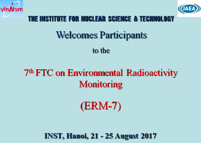 The 7th VINATOM-JAEA Joint Training Course on Environmental Radioactivity Monitoring (ERM-7)